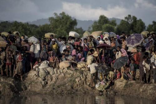 Rohingya di kamp penampungan di Cox's Bazar. (Foto: AFP)