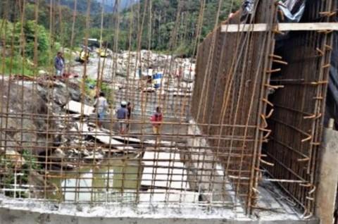 Lokasi pembangunan Jembatan Kali Yigi di jalur Trans Papua, yang