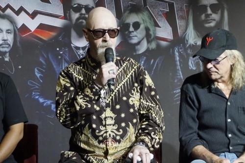 Vokalis Judas Priest Rob Halford (Foto: Medcom/Elang)