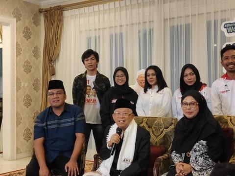 Calon wakil presiden nomor urut 01 Ma'ruf Amin (tengah). Foto: