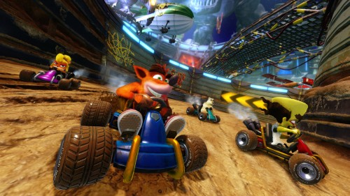 Tampilan grafis  Crash Team Racing Nitro-Fueled.