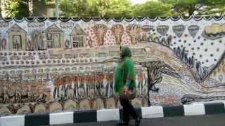 Karya Mural Seniman Indonesia Ramaikan Kongres Kebudayaan