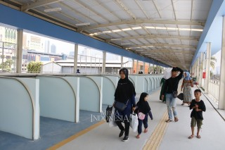 Skybridge Tanah Abang Diuji Coba Hari Ini