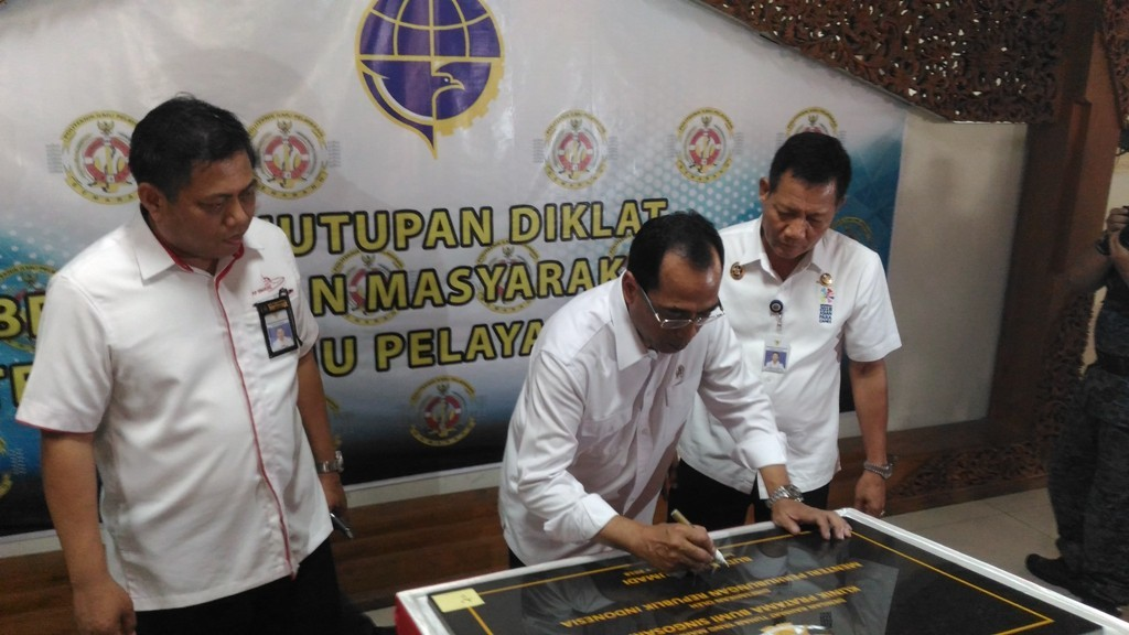 Menteri Perhubungan, Budi Karya Sumadi, di Kampus PIP Semarang. Foto: Mustholih
