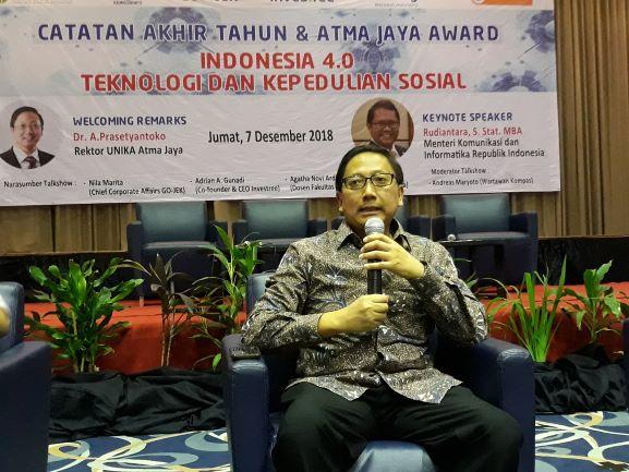 Rektor Universitas Katolik (Unika) Atma Jaya Jakarta, Agustinus Prasetyantoko, Medcom.id/Citra Larasati.
