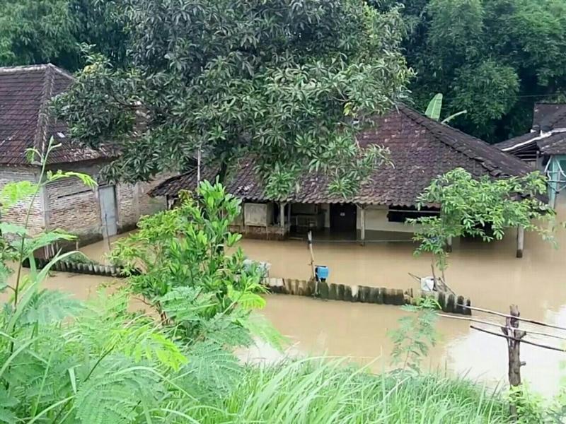 Banjir merendam rumah warga di Solo, tahun 2017 lalu