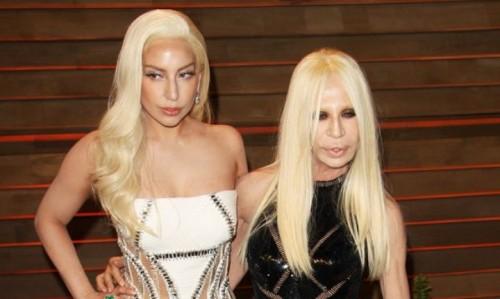 Lady Gaga dan Donatella Versace (Foto: wenn)