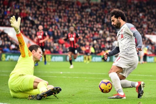 Suasana laga Bournemouth vs Liverpool. (Glyn KIRK / AFP)