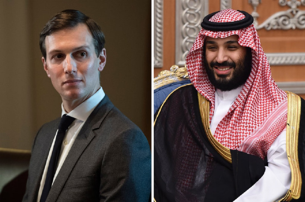 Jared Kushner (kiri) dan Pangeran Mohammed bin Salman. (Foto: Jabin Botsford/The Washington Post; Fayez Nureldine/AFP/Getty Images)