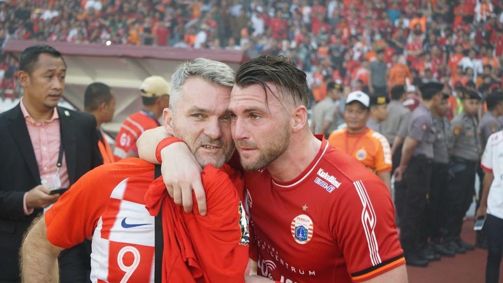Marko Simic (kanan) bersama sang ayah (medcom.id/Kautsar)