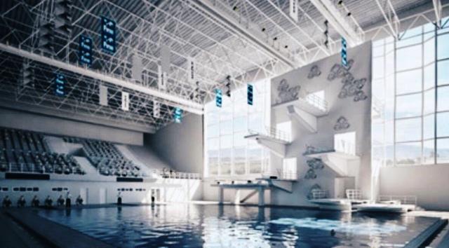 Arena Aquatic juga akan dilengkapi fasilitas tata suara dan tata udara, CCTV dan tribun penonton. all pictures: dok. Kementerian PUPR