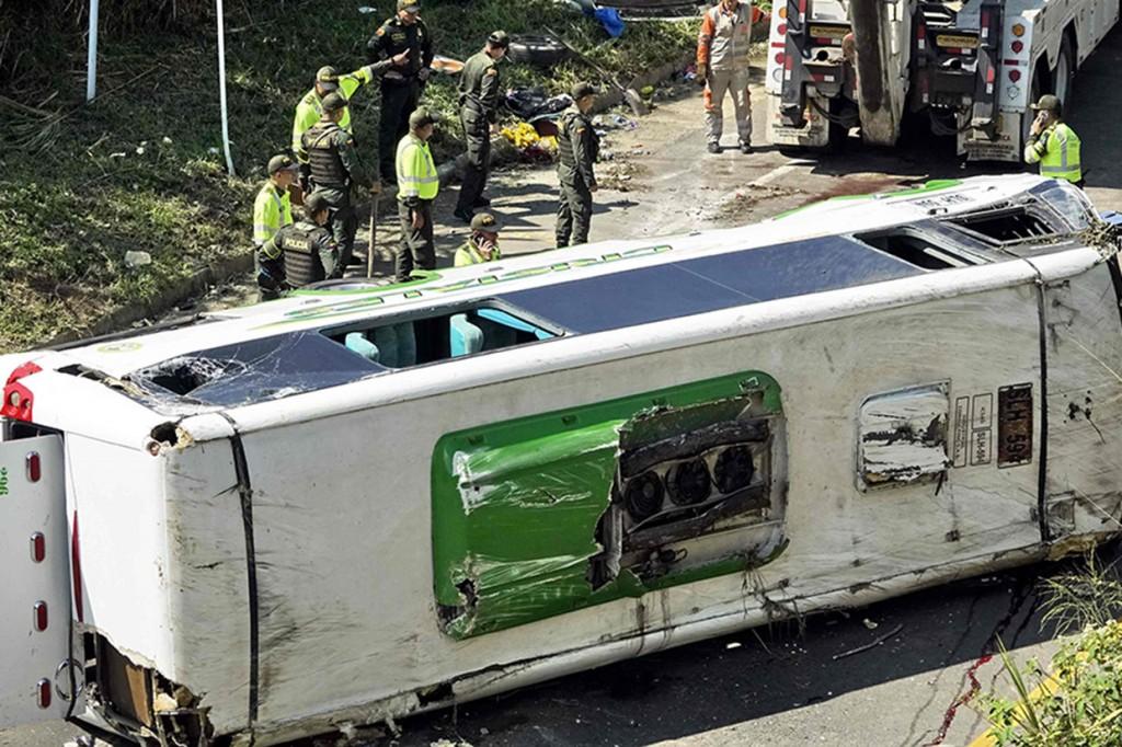 Kecelakaan Bus di Kolombia Tewaskan 9 Orang
