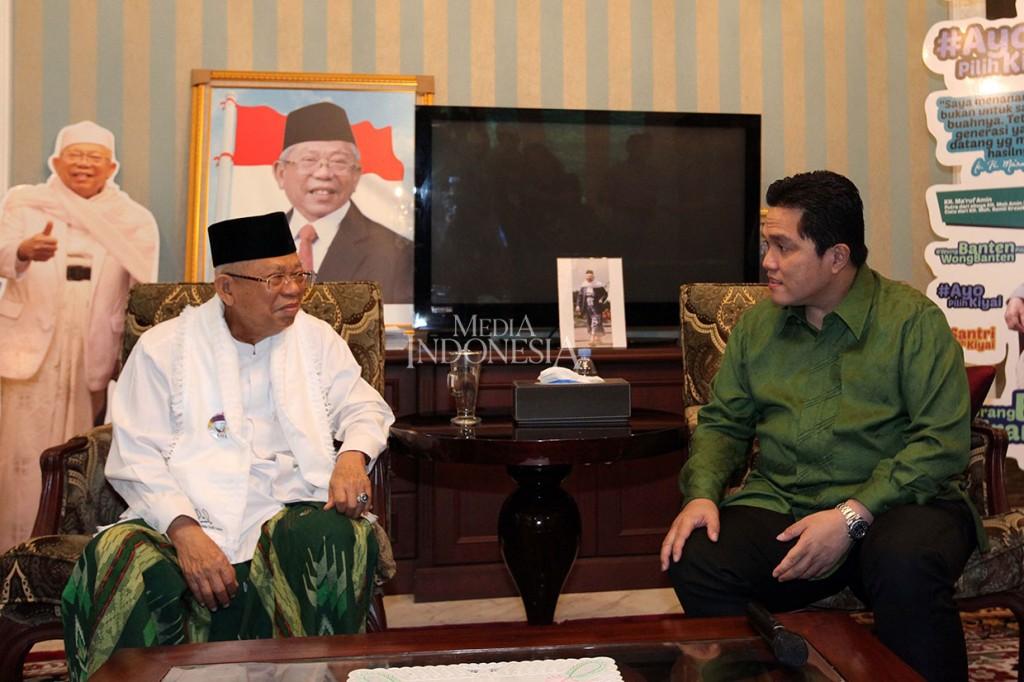 Erick Thohir Silaturahmi ke Kediaman Ma'ruf Amin