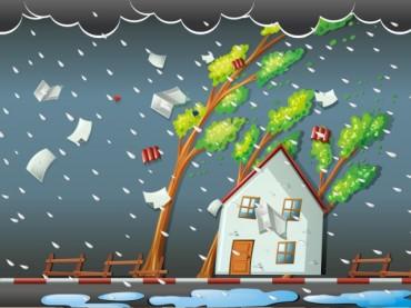 Atap <i>Food Court</i> Rasuna Garden Tersapu Angin