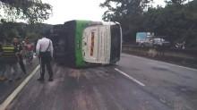 Bus Terbalik di Sabah, 18 Turis Korsel Terluka