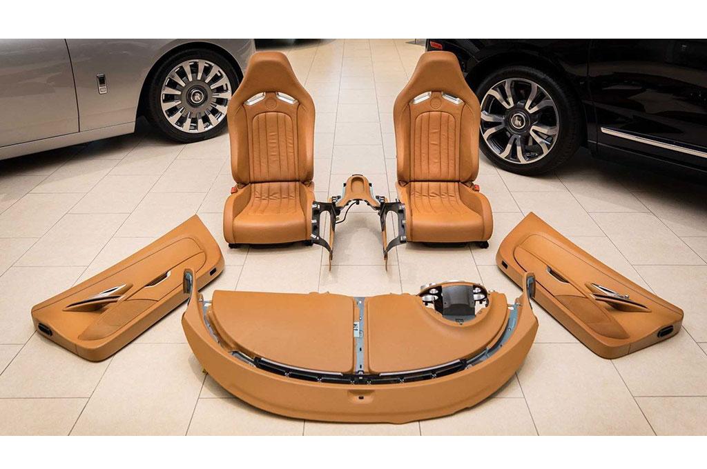 Paket interior Bugatti Veyron yang ditawarkan Braman Motors. Braman Motors
