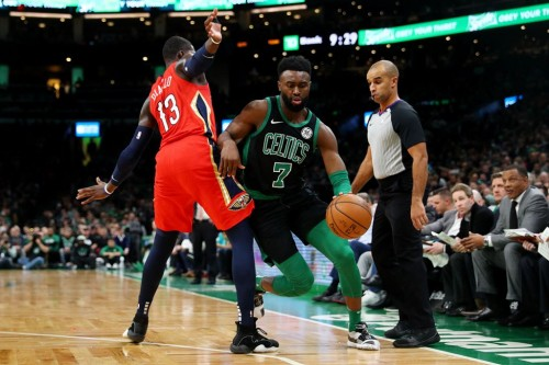Boston Celtics vs New Orleans Pelicans (Foto AFP/Maddie Meyer)