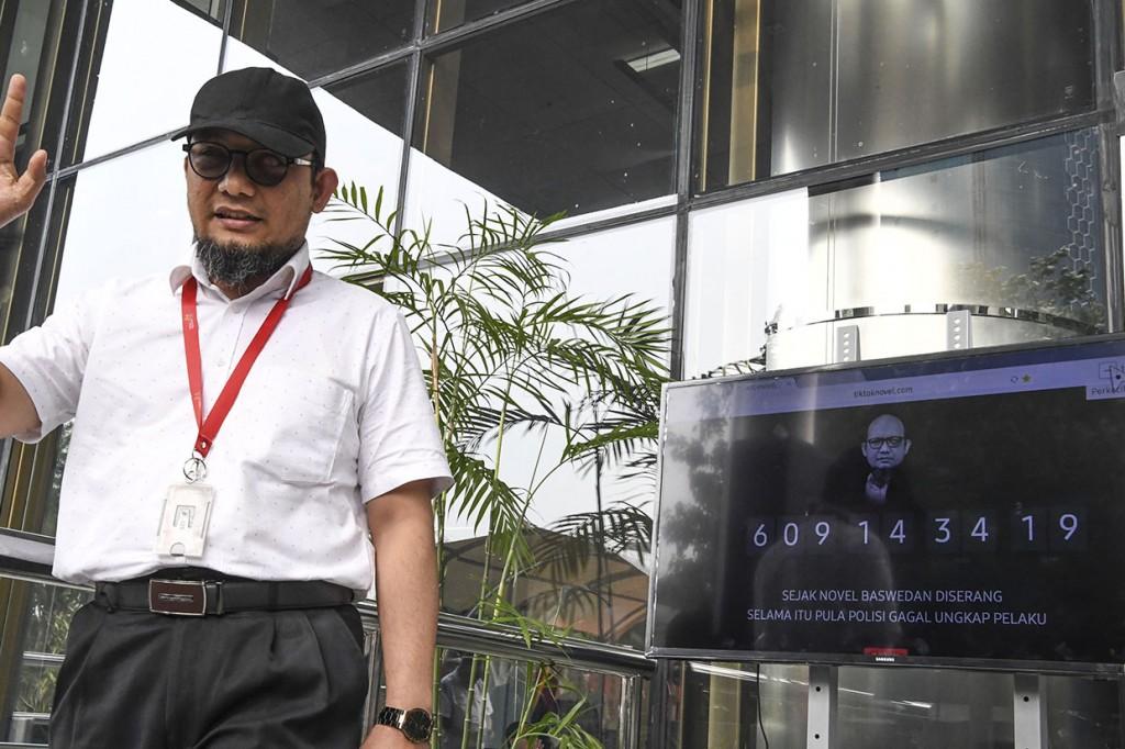 KPK Luncurkan Jam Waktu Penuntasan Kasus Novel
