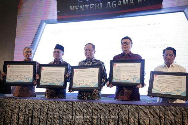 Rakornas Implementasi Pendidikan Antikorupsi bersama empat menteri di Jakarta, Kemenristekdikti/Humas.