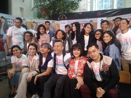 Jumpa media Milly & Mamet di XXI Epicentrum, Jakarta Selatan,