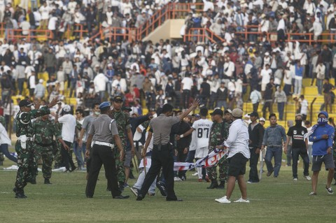 Kerusuhan Suporter Warnai Laga PS Tira Vs PSIM Yogyakarta