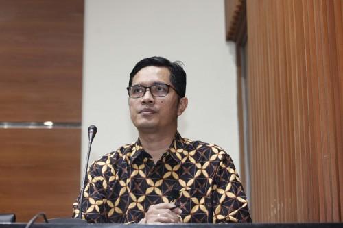 Juru Bicara KPK Febri Diansyah di Gedung KPK, Jakarta, Rabu,  15 Agustus 2018. Foto: MI/Rommy Pujianto