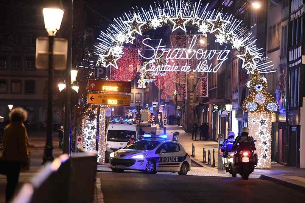 Pasar Natal yang jadi sasaran penembakan di Strasbourg, Prancis timur. (Foto: AFP)