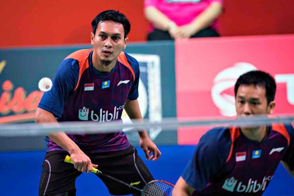 Mohammad Ahsan dan Hendra Setiawan. (Foto: AFP/Claus Fisker)