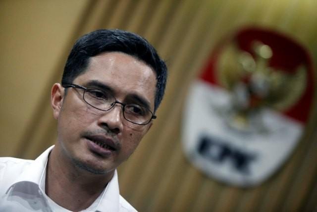 KPK spokesperson Febri Diansyah (Photo:MI/Rommy Pujianto)