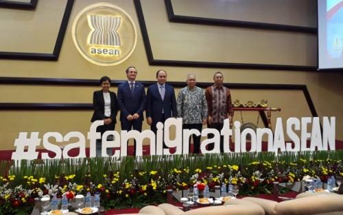 Peluncuran Kampanye Safe Migration ASEAN di Sekretarian ASEAN,