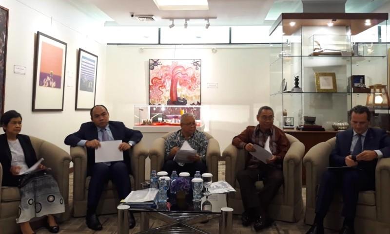 Peluncuran Kampanye Safe Migration ASEAN di Sekretarian ASEAN, Jakarta, Rabu 12 Desember 2018. (Foto: Marcheilla Ariesta/Medcom.id).