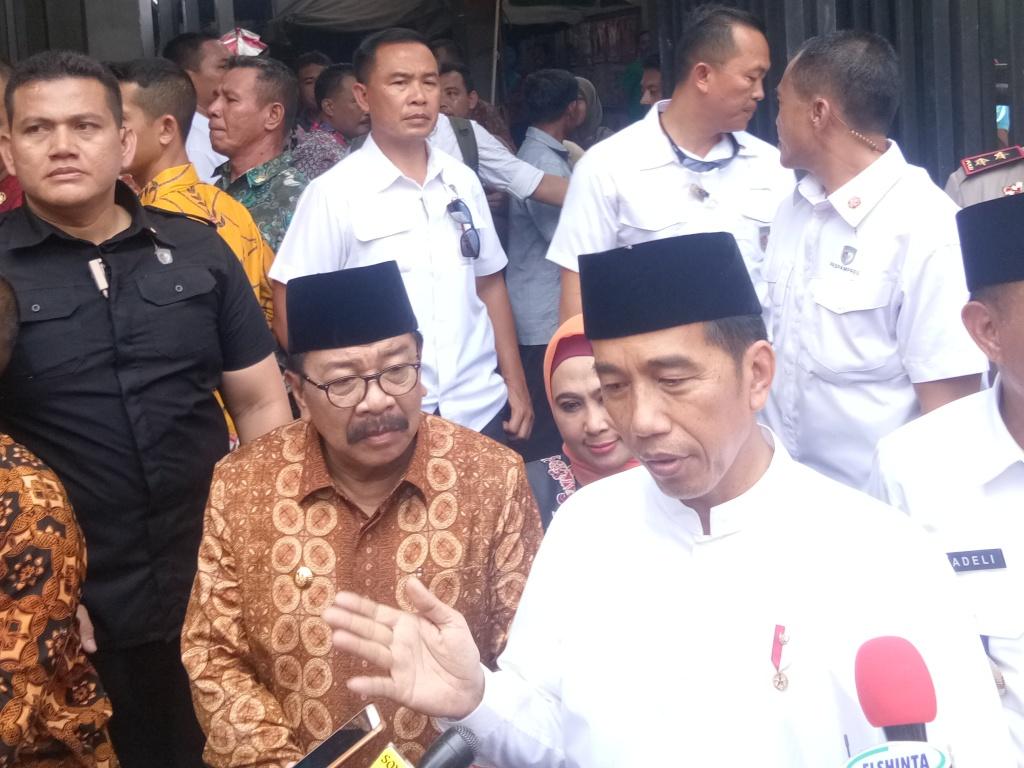 Presiden Joko Widodo saat kunjungan kerja di Jawa Timur. Foto: Medcom.id/Achmad Zulfikar Fazli.