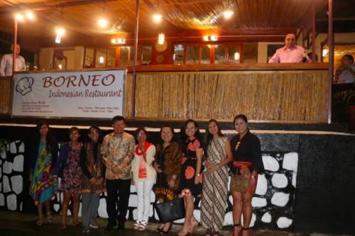 Borneo Cafe menyuguhkan makanan khas Indonesia di Rwanda. (Foto: