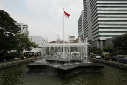 Suasana di halaman Balai Kota DKI Jakarta. Foto: MI/Arya