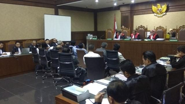 Sidang pemeriksaan saksi mantan Wakil Ketua DPRD Sumatera Utara, Chaidir Ritonga. Foto: Medcom.id/Fachri Audhia Hafiez