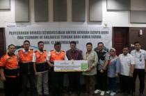 PT Kimia Farma menggandeng BAZNAS dalam menyalurkan donasi untuk korban gempa bumi dan tsunami di Sulteng sebesar Rp150 juta (Foto:Dok.BAZNAS)