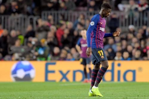 Penyerang Barcelona, Ousmane Dembele (AFP/Lluis Gene)