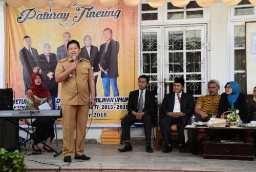 Bupati Cianjur, Jawa Barat, Irvan Rivano Muchtar, meresmikan