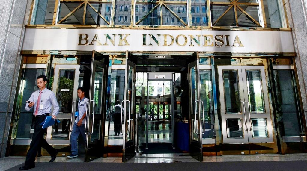 Logo Bank Indonesia di Komplek Kantor Bank Indonesia (MI/ROMMY PUJIANTO)