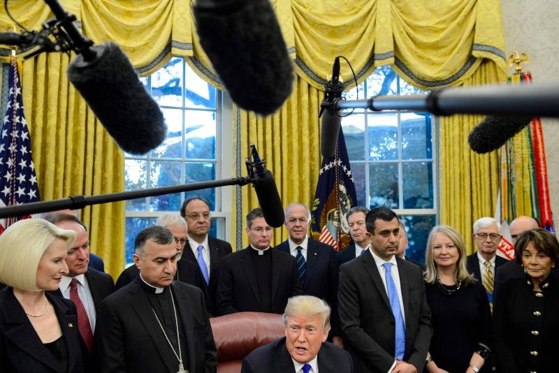 Presiden AS Donald Trump tegaskan kembali dukungan untuk Pangeran Mohammed bin Salman. (Foto: AFP).