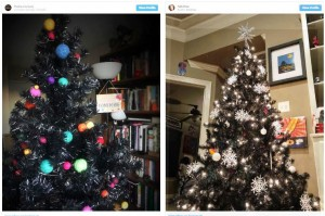 Tampil Beda dengan Pohon Natal Hitam