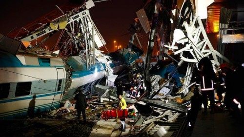 Kecelakaan kereta yang terjadi di Ankara, Turki tewaskan empat
