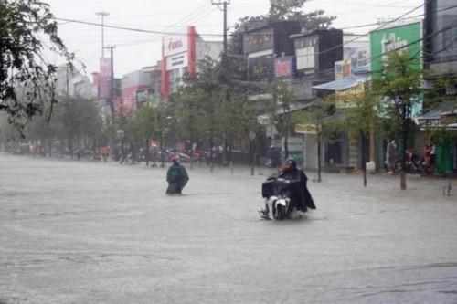Banjir melanda Vietnam. (Foto: VIETNAM NEWS/ASIA NEWS NETWORK)