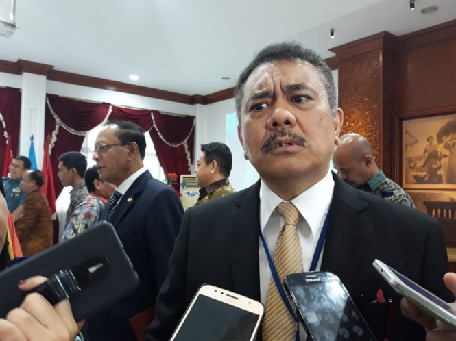 Direktur Jenderal Hukum dan Perjanjian Internasional (HPI) Kementerian Luar Negeri Damos Dumoli Agusman. (Marcheilla/Medcom)