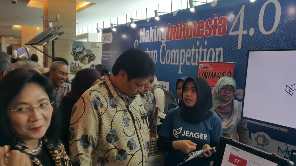Menperin Airlangga Hartarto mendorong industri startup 4.0 mendunia. (Foto: dok Kemenperin)