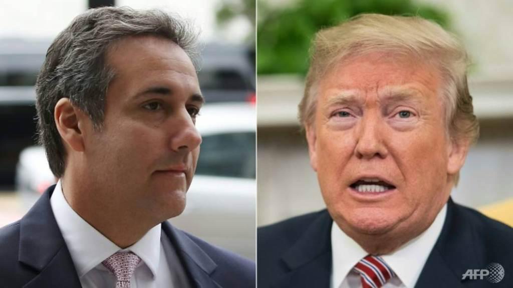 Mantan pengacara Michael Cohen (kiri) dan Presiden AS Donald Trump (kanan). (Foto: AFP).