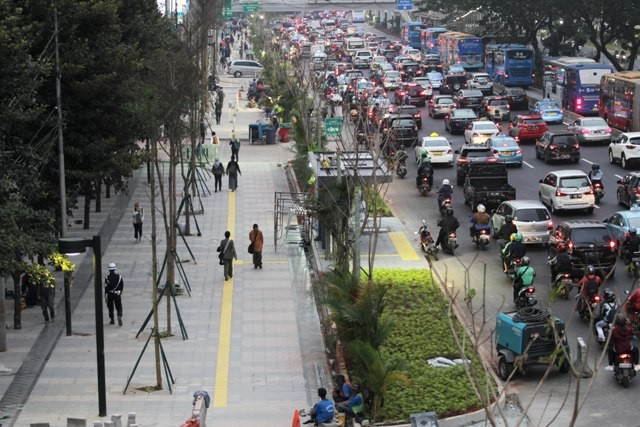 Kawasan Jalan Sudirman. Foto: MI/Pius.