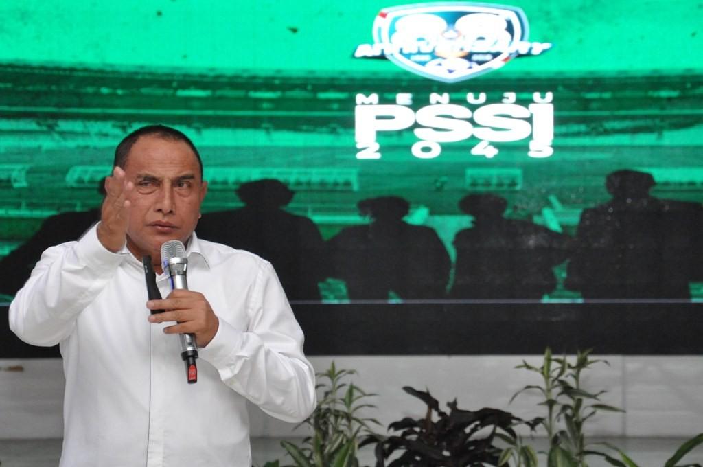 Ketua Umum PSSI Edy Rahmayadi diminta mundur dari jabatannya karena banyak janjinya tidak terpenuhi (Foto: ANTARA FOTO/Septianda Perdana)