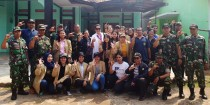 Sebanyak 100 mahasiswa dan dosen UNPAR mengikuti program KKL di Desa Cangkorah, Kabupaten Bandung Barat, Jawa Barat, pada November 2018 (Foto:Dok.UNPAR)