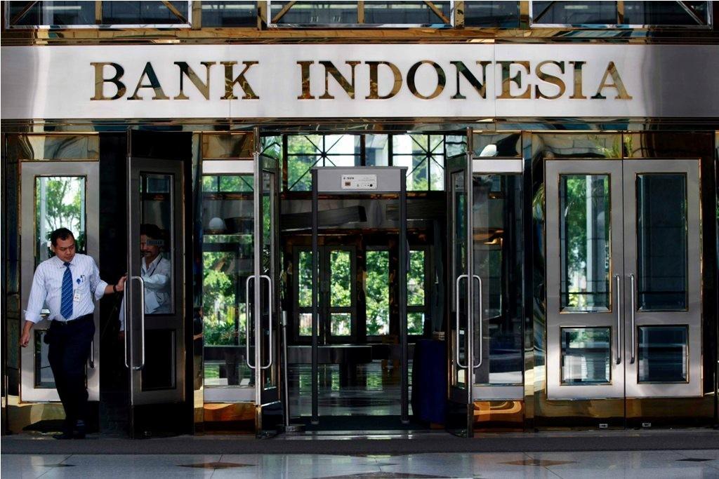 Logo Bank Indonesia di Komplek Kantor Bank Indonesia, Jakarta (MI/ROMMY PUJIANTO)